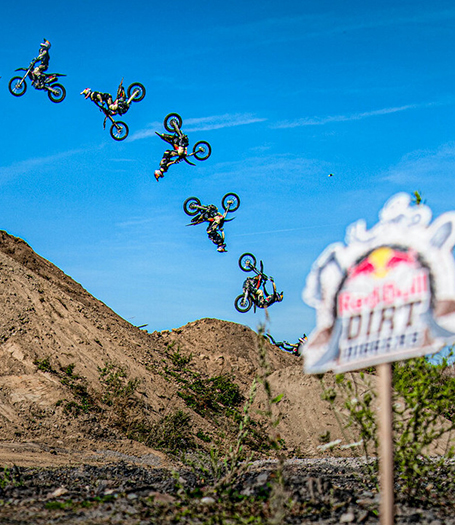 Luc Ackermann of Germany performs at the practice of the Red Bull Dirt Diggers in Dinslaken, Germany on September 13, 2019  EDITORS NOTE: THIS IMAGE CONTAINS MULTIPLE PHOTOGRAPHS // Marcel Lämmerhirt/Red Bull Content Pool // AP-21JSJU4W92111 // Usage for editorial use only //