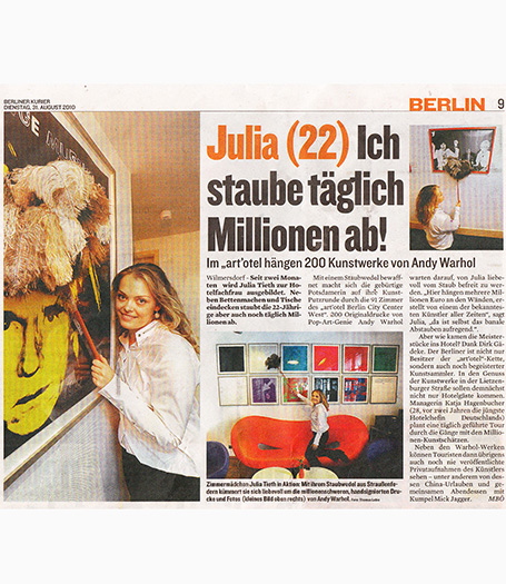 art'otel berlin kudamm @ Berliner Kurier